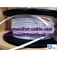 Best 0.7mm CU Inner Conductor RG59 CCTV Coaxial Cable 80% CCA Braiding 100M Plastic spool wholesale