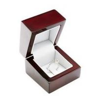 Best Red Color Light Wood Jewelry Box , Wooden Engagement Ring Box For Single Ring wholesale