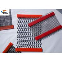 Middle Carbon Steel Rock Screen Mesh , Anti - Clogging Screen Cloth For Vibrating Screen