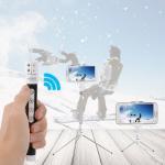 Wireless Bluetooth Monopod Selfie Stick Self Portrait Video Built-in Remote Shutter Button