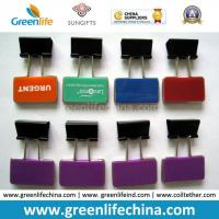 Best olorful Rectangle Plastic Sheet W/Custom Logo Office Binder Clips wholesale