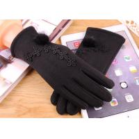 Best Plush Women Vintage Touch Screen Compatible Gloves 40-60cm For Winter Outdoor wholesale