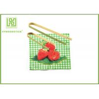 Best Disposable House Kitchen Wares 15cm Wooden Toaster Tongs For Baking House wholesale