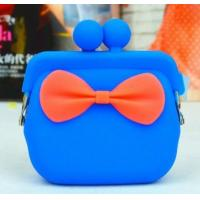 Best factory supply silicon coin purse with bow knot wholesale