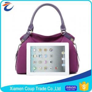 Buy cheap Elegant Purple Womens Tote Bags / Shoulder Messenger Bag Customized Logo from wholesalers