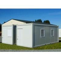 China Gable - Roof Modular Container House , Steel Door Fireproof White Container House on sale
