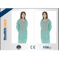 Buy cheap Nonwoven Disposable Dressing Gowns Hospital Scrubs With Elastic Cuff Anti Blood from wholesalers