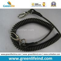 Best Anti-Drop Black Spring Coil Tool Lanyard W/Oval Hooks wholesale