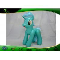 Cheap Giant Inflatable Cartoon Characters , Green PVC Inflatable Horse Toy Animal wholesale