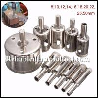 Best Straight Shank Electroplated Diamond Drill Cutter / Glass Hole Saw Size 5-155mm wholesale