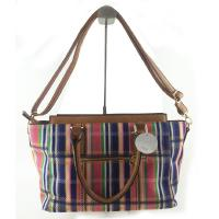 Buy cheap Combination Striped Women Canvas Handbags With Pocket 40 * 35 CM from wholesalers