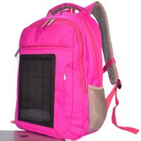 Best Pink Womens Hiking Solar Charging Backpack With Charger Built In wholesale