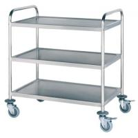 China New Designed Stainless Steel Delivery Cart / Steel Lab Trolley on sale