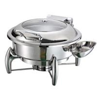Best High quality round hydraulic chafing dish buffet food warmer round chafing dish wholesale