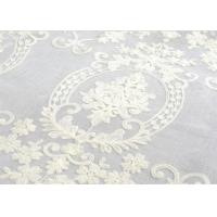 Best Polyester Voile Curtain Fabric Embroidery Contemporary Decoration wholesale