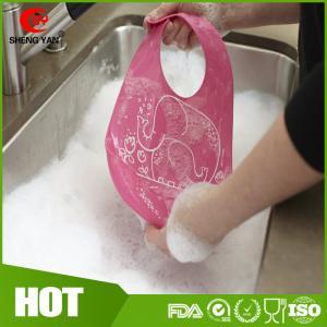 Best BPA Free Easy Washing Silicone Baby Bibs Patterns Custom Logo Printed wholesale