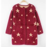 Best Oversized Cotton Cable Knit Sweater Jacquard Star Racoon Round Neck wholesale
