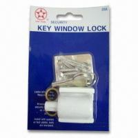 Cheap Zinc Alloy Key Window Lock, Suitable for Aluminum and Wooden Windows for sale