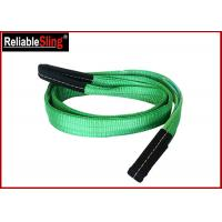 Best Green Ply Polyester Webbing Sling For Lifting Loads  , Eye And Eye Sling wholesale