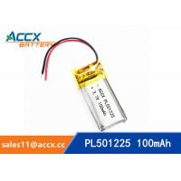 Best 501225 pl501225 3.7v lipo battery with 100mAh rechargeable small battery for POS machine, sphygmonanometer wholesale