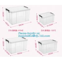 China Household Multi-function Large Size Clear Plastic Storage Box Sundry Clothes Storage Box With Lid, First Aid Plastic Tra on sale