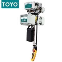 China TOYO KD-1 Aluminum Body Three Phase 380V Electric Chain Hoist Hook Suspension Type on sale