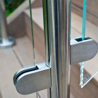 Best Frameless Glass Guard Deck Railing with Solid Clamps Made In China wholesale