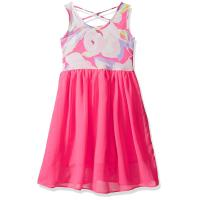 Best Floral Top Little Girl Summer Dresses Size 7 Chiffon Criss Cross Back Dress wholesale