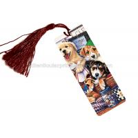Best PET 3D Lenticular Personalised Book Marks  With CMYK Printing 0.65 Mm Thickness wholesale
