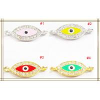 Best Handcrafted Jewelry Findings Colorful Crystal Shamballa Eye Charms 10 * 27mm wholesale