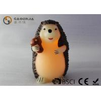 Best Decorative Flameless Candles , Battery Operated Pillar Candles Hedgehog Shaped wholesale
