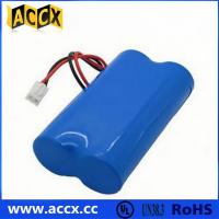 Cheap 7.2V lithium battery pack with connector in series for sale
