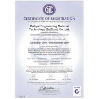 Bohyar Engineering Material Technology(Suzhou)Co., Ltd Certifications