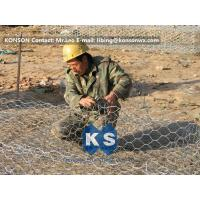 Best Custom Gabion Stone Cages Hexagonal Wire 80 x 100MM For Protection Engineering wholesale