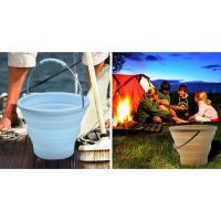 Best 7L Blue Camping Silicone Collapsible Bucket For Outdoor Picnic , Camping wholesale