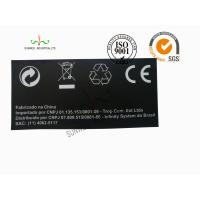 China Back Ground Custom Logo Print Sticker Labels Synthetic Paper Black Color on sale