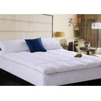 Best Four Corners Elastic Hotel Mattress Topper Soft 180-300T Thread Count wholesale