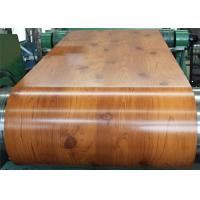 Best PVC Laminated Metal Sheet Wood Grain VCM Color Coated Steel Coil Strong Toughness wholesale