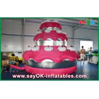 China Red Promotional Custom Inflatable Products Giant Cake Party / Birthday Decoration on sale