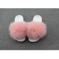 Cheap Dyed Color Ladies Fluffy Slippers For Summer , Spring Cute Womens Slippers  for sale