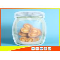 Best Clear Stand Up Ziplock Bags , Zip Pouch For Food / Snack / Tea Storage wholesale
