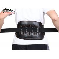 Buy cheap Leather Magnetic Adjustable Waist Back Support Belt Lumbar Back Brace from wholesalers