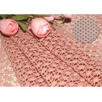 Best 47 Inches Guipure French Venise Lace Fabric / Embroidered Dress Fabric By Azo Free wholesale