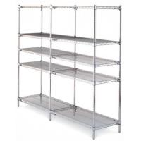 Best Chrome Industrial Wire Shelving  , 5 Tiers ESD Rack PCB Wire Mesh Shelving System For Electronics Industry wholesale