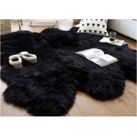 Best Australian Sheepskin Rug Sheepskin Collection Genuine Sheepskin Pelt Black Premium Shag Runner (4' x 6') wholesale