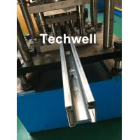 Best Custom Made Guide Rail Roll Forming Machine For Making Sliding System Devices With Hydraulic Punching wholesale