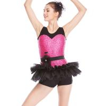 Best Biketard Jazz Costume Dance Wear Sequins Joints Lace Performance Dance Competition Clothes wholesale