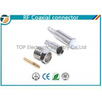 China Silver FME Jack Female Crimp Connector Free Hanging For RG174 Cable on sale