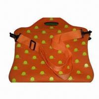 Best Neoprene Laptop Sleeve in Orange Printing, with Adjustable Shoulder Strap, Could Hold 17-inch Laptop wholesale