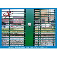 Best Durable Metal Security Fence Panels , Security Mesh Fencing 2.8m Height RAL6005 wholesale